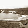 Elk Cove And Greenwood Landing Mendocino Coast Circa 1950 by California Views Archives Mr Pat Hathaway Archives