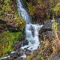 Elk Creek Waterfall Waterscape Art By Kaylyn Franks by Kaylyn Franks