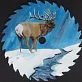 Elk In Snow by Halie French