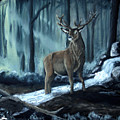 Elk In The Morning by Dennis Smith