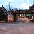 Ellicott City Nights - Entrance To Main Street by Ronald Reid