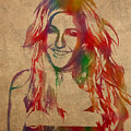 Ellie Goulding Watercolor Portrait by Design Turnpike