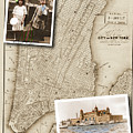 Ellis Island Vintage Map Child Immigrants by Karla Beatty