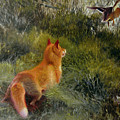 Eluding The Fox by Bruno Andreas Liljefors