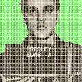 Elvis Army Mug Shot - Green by Gary Hogben