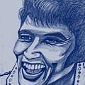 Elvis In Blue by Richard Heyman
