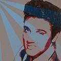 Elvis Pop Art Poster by Dan Sproul