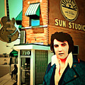 Elvis Presley The King At Sun Studio Memphis Tennessee 20160216 Square by Wingsdomain Art and Photography