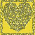 Embossed Gold Heart by Lise Winne