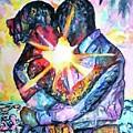 Embracing Couple In Love by Carlin Blahnik CarlinArtWatercolor