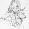 Emelyne With Er Dog by George Desire Herman