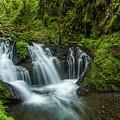 Emeral Falls Waterscape Art By Kaylyn Franks by Kaylyn Franks