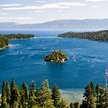Emerald Bay And Wizard Island At Lake Tahoe In California  by Priya Ghose