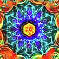 Emerald Circle Mandala by Yulia Kazansky