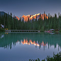 Emerald Lake At Sunrise Hour by William Freebilly photography