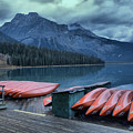 Emerald Lake Canoes by Adam Jewell