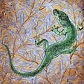 Emerald Lizard by Anna Collevecchio