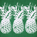 Emerald Pineapples- Art By Linda Woods by Linda Woods