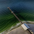 Emerald Waters At The Gulf State Pier by Michael Thomas