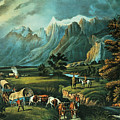 Emigrants Crossing The Plains by Currier and Ives