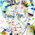 Emil Cioran - Watercolor Portrait by Fabrizio Cassetta