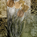 Emily Damask Tulips II by Mindy Sommers