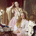 Emma And Federica Bankes Of Soughton Hall  by Henry Tanworth Wells