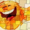 Emoticon Mosaic Cubism by Dan Sproul