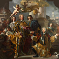 Emperor Charles Vi And Gundacker, Count Althann by Francesco Solimena