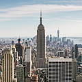 Empire State Building And Manhattan Skyline, New York City, Usa by Matteo Colombo