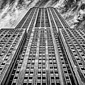 Empire State Building Black And White by John Farnan