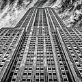 Empire State Building Black And White Square Format by John Farnan