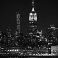 Empire State Building In Black And White by Raymond Salani III