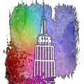 Empire State Of Mind Cool Rainbow 3 Dimensional by Di Designs