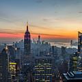 Empire State Sunset by Robert J Caputo