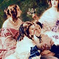 Empress Eugenie And Her Ladies In Waiting by Franz Xaver Winterhalter