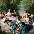 Empress Eugenie Surrounded By Her Ladies In Waiting by Franz Xaver Winterhalter