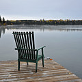 Empty Chair On Autumn Morning by Perl Photography