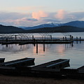 Empty Docks On Priest Lake by Carol Groenen