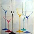 Empty Glasses by Melina Mel P