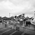 Empty Outdoor Amusement Park On A Cold Wet British Summer Day North Wales Uk by Joe Fox