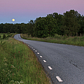Empty Road In Countryside Landscape by Jens Ceder Photography