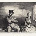 En Chemin De Fer... Un Voisin Agr?able by Honor? Daumier