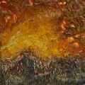 Encaustic Sky Blaze by Linda Rutledge