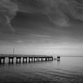 End Of The Pier Landscape Photograph by Melissa Fague