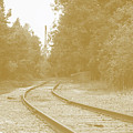 End Of The Rail-sepia by Jost Houk