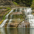 Enfield Falls Tompkins County New York by Karen Jorstad