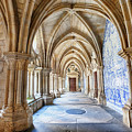 enfilade of cathedral cloister Se, Porto, Portugal by Ariadna De Raadt
