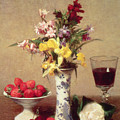 Engagement Bouquet by Ignace Henri Jean Fantin-Latour