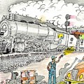 Engine On The Yard by David Ramey